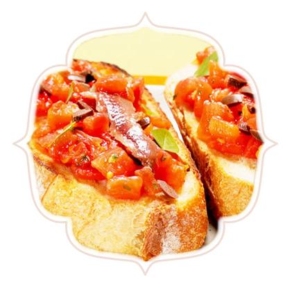 Bruschetta De Tomate Com Anchova Melilla